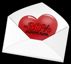 Sconto 30% San Valentino